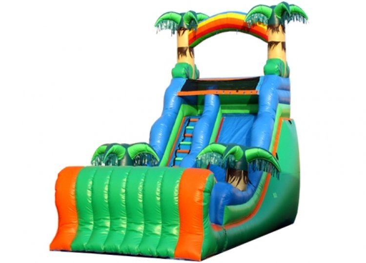 14 FT Tropical (DRY) Slide with Bumper